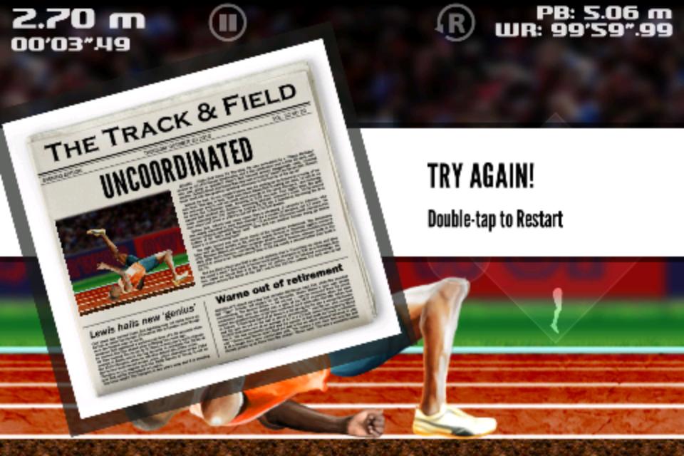 Screenshot QWOP for iOS
